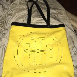 Yellow Patent Leather Tory Burch Bag